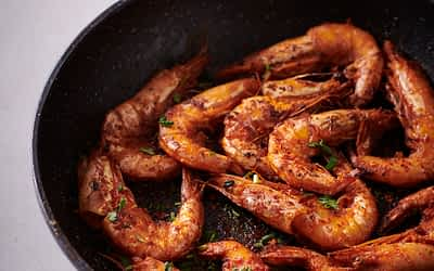 Grilled Prawns with Savoury Rice